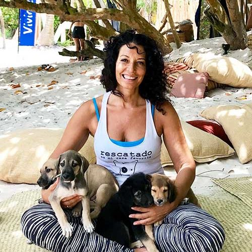 Richelle Morgan founder of Pesos for Paws and creator of Yoga Dicha Studio in Tulum